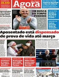 Capa do jornal Agora 21/01/2021