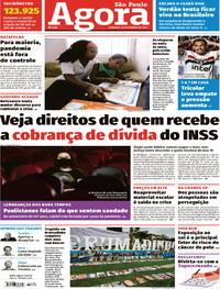 Capa do jornal Agora 24/01/2021