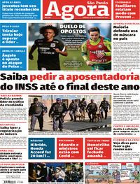 Capa do jornal Agora 25/09/2021