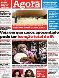 Capa do jornal Agora 27/09/2021