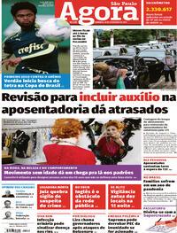 Capa do jornal Agora 28/02/2021