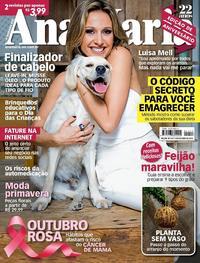 Capa da revista Ana Maria 03/10/2018