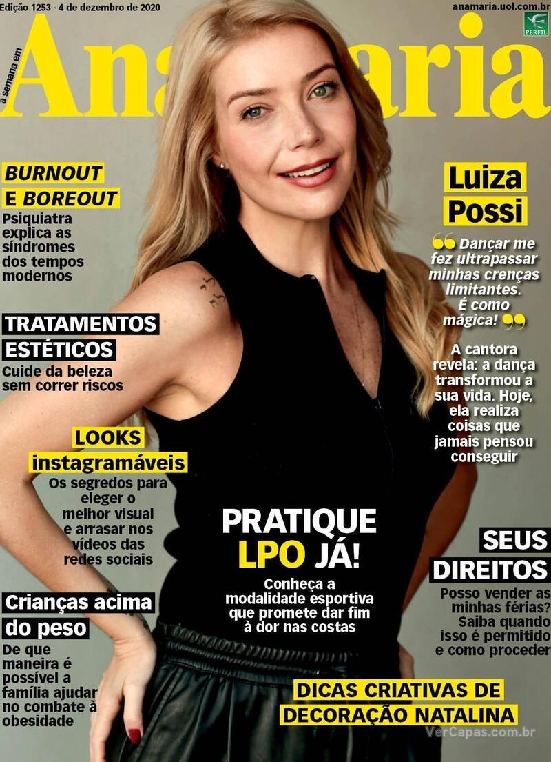 Capa da revista Ana Maria 04/12/2020