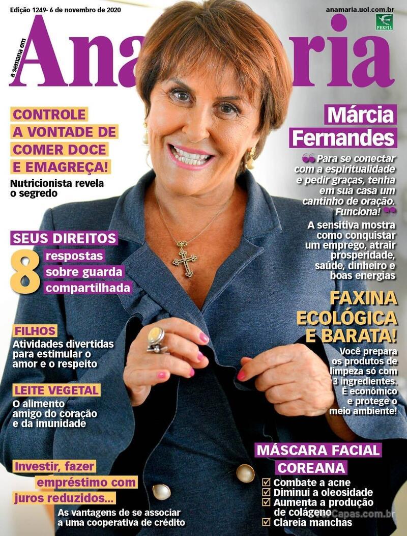 Capa da revista Ana Maria 06/11/2020