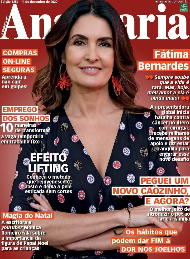 Capa da revista Ana Maria 11/12/2020