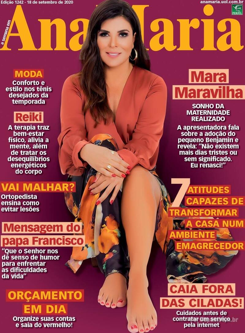 Capa da revista Ana Maria 18/09/2020