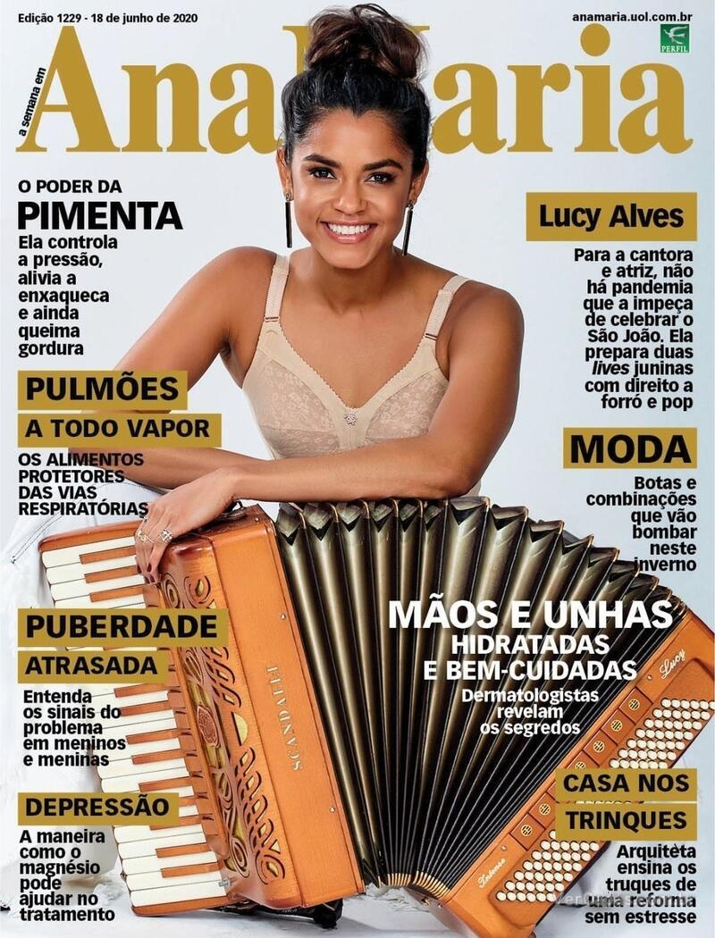 Capa da revista Ana Maria 19/06/2020