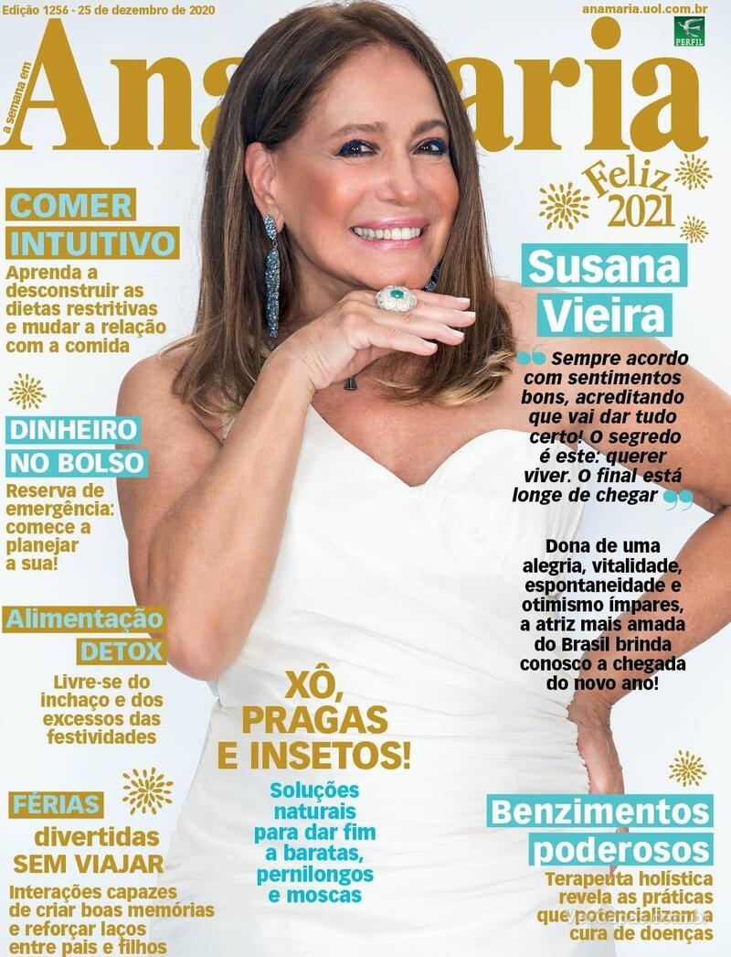 Capa da revista Ana Maria 25/12/2020