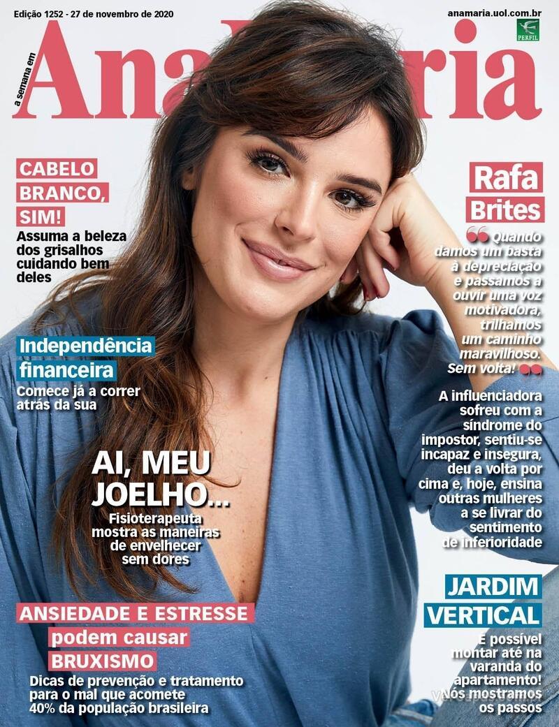 Capa da revista Ana Maria 27/11/2020