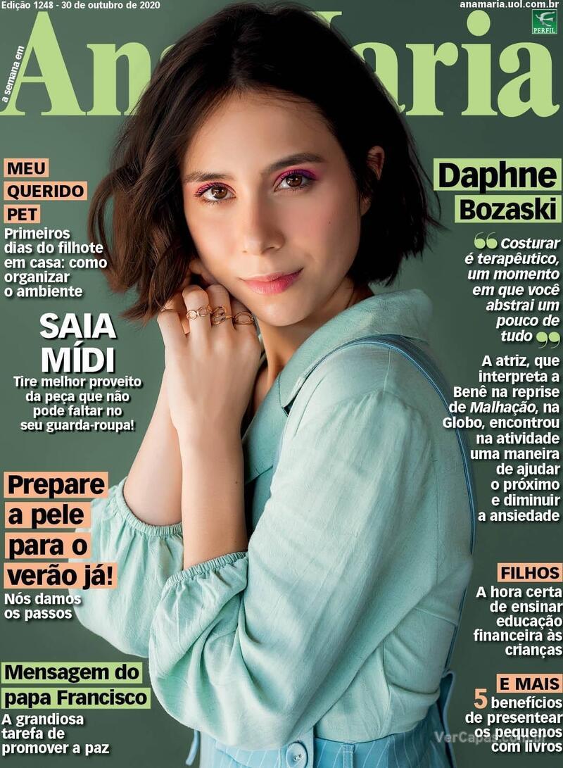Capa da revista Ana Maria 30/10/2020