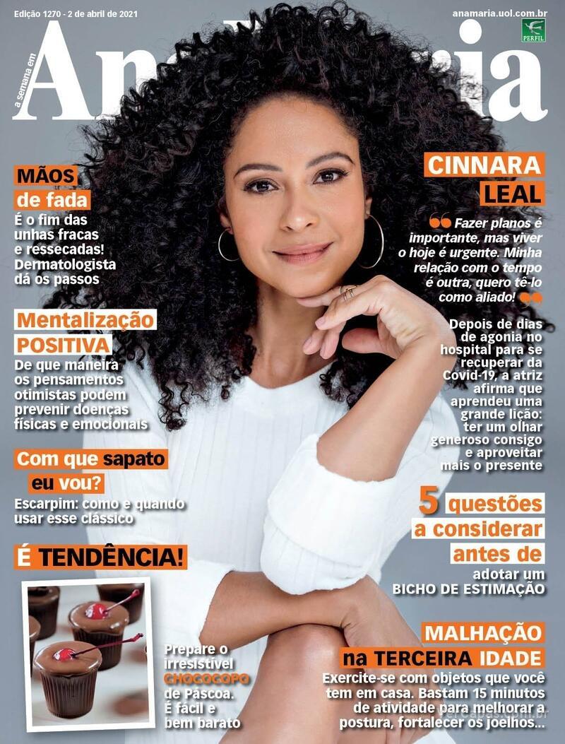Capa da revista Ana Maria 02/04/2021