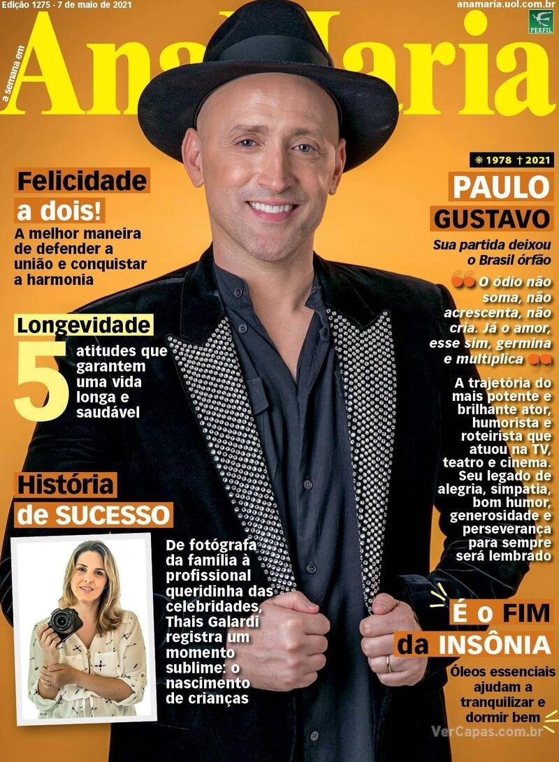 Capa da revista Ana Maria 07/05/2021