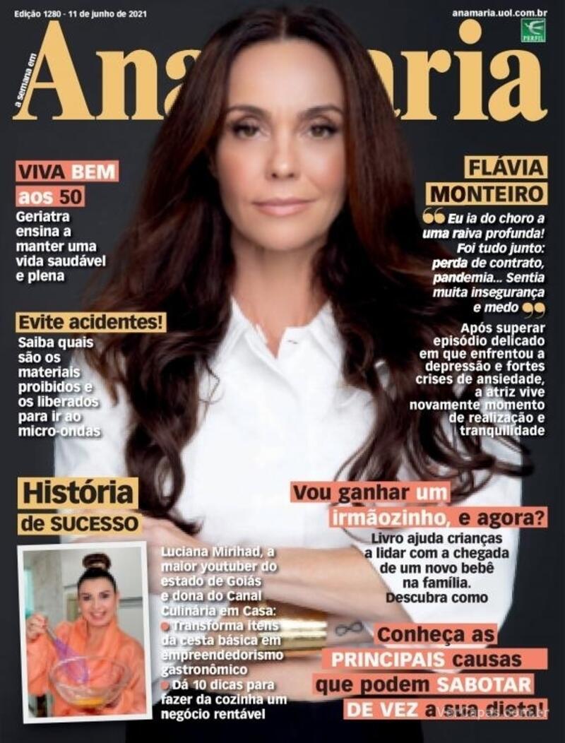 Capa da revista Ana Maria 11/06/2021