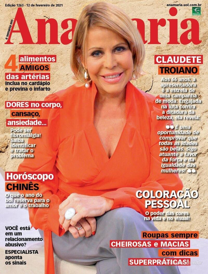 Capa da revista Ana Maria 12/02/2021