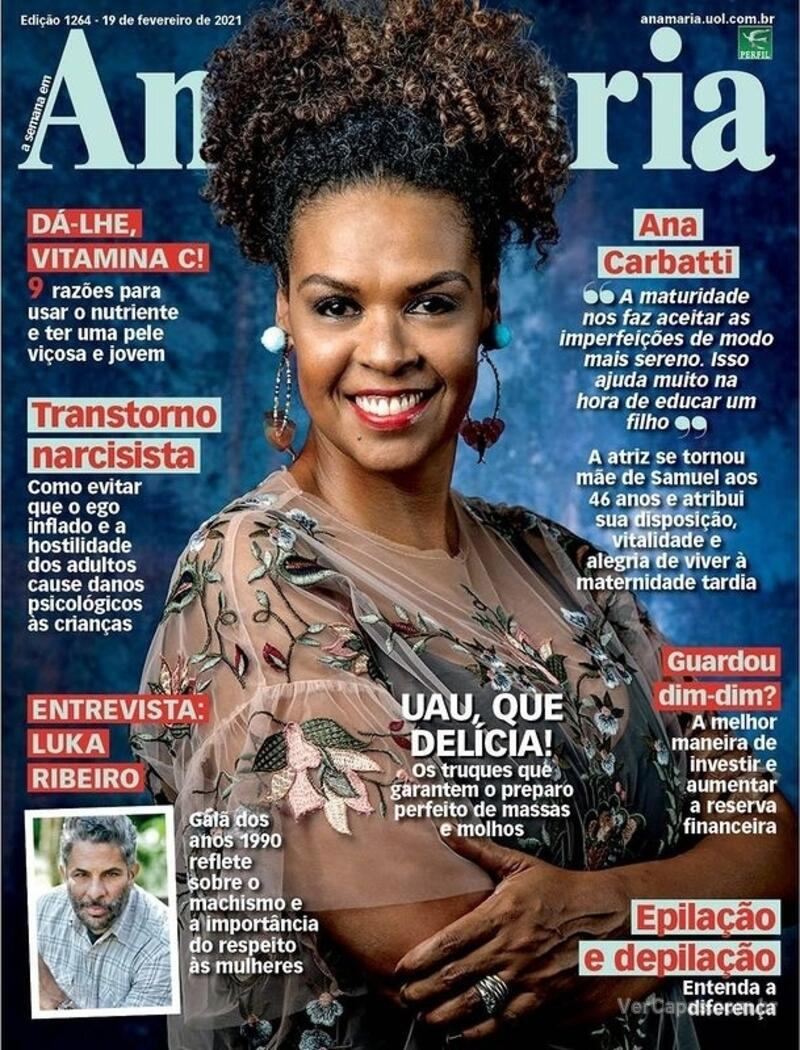Capa da revista Ana Maria 19/02/2021
