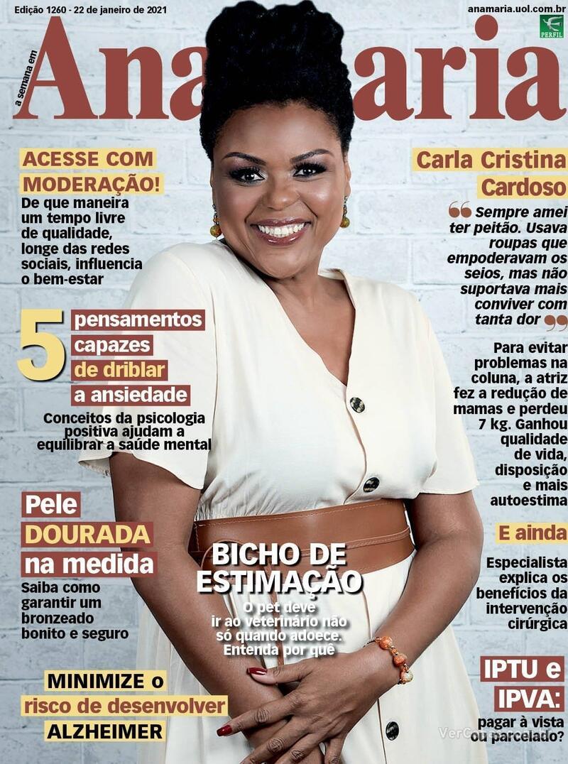 Capa da revista Ana Maria 22/01/2021