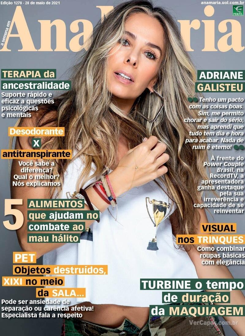 Capa da revista Ana Maria 28/05/2021