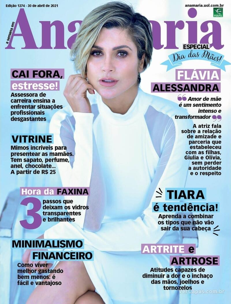 Capa da revista Ana Maria 30/04/2021