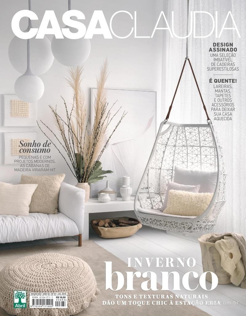 Capa revista Casa Claudia 05/07/2018