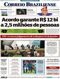 Capa Correio Braziliense 2017-12-13