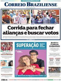 Capa Correio Braziliense 2018-10-14