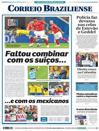 Capa Correio Braziliense 2018-06-18