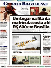 Capa Correio Braziliense 2018-01-23