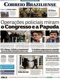 Capa Correio Braziliense 2018-04-25