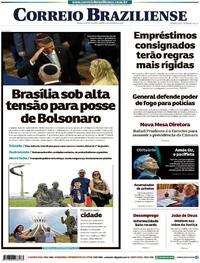 Capa Correio Braziliense 2018-12-29