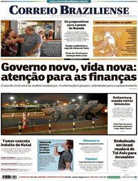 Capa Correio Braziliense 2018-12-31