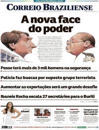 Capa Correio Braziliense 2019-01-01