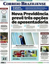 Capa Correio Braziliense 2019-02-16