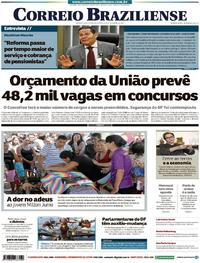 Capa Correio Braziliense 2019-01-17