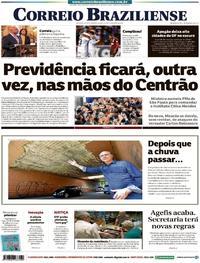 Capa Correio Braziliense 2019-04-25