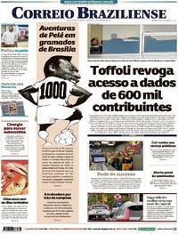 Capa Correio Braziliense 2019-11-19