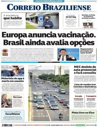 Capa do jornal Correio Braziliense 03/12/2020