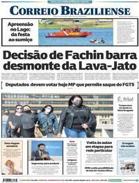 Capa do jornal Correio Braziliense 04/08/2020