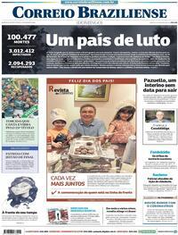 Capa do jornal Correio Braziliense 09/08/2020