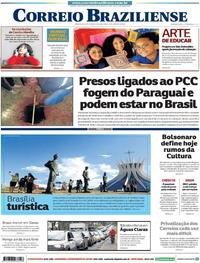 Capa Correio Braziliense 2020-01-20