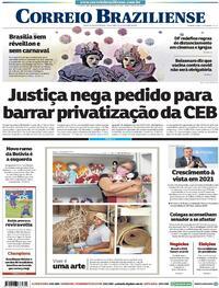 Capa do jornal Correio Braziliense 20/10/2020