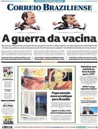 Capa do jornal Correio Braziliense 22/10/2020