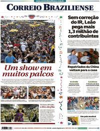 Capa Correio Braziliense 2020-02-24