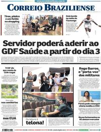 Capa do jornal Correio Braziliense 29/10/2020