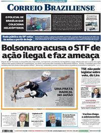 Capa do jornal Correio Braziliense 05/08/2021