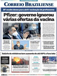Capa do jornal Correio Braziliense 14/05/2021