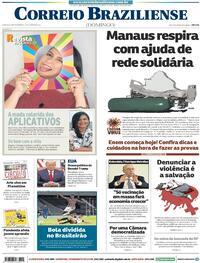 Capa do jornal Correio Braziliense 17/01/2021