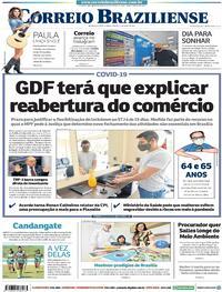Capa do jornal Correio Braziliense 17/04/2021