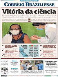 Capa do jornal Correio Braziliense 18/01/2021