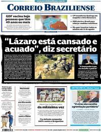 Capa do jornal Correio Braziliense 19/06/2021
