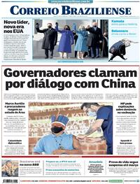 Capa do jornal Correio Braziliense 21/01/2021